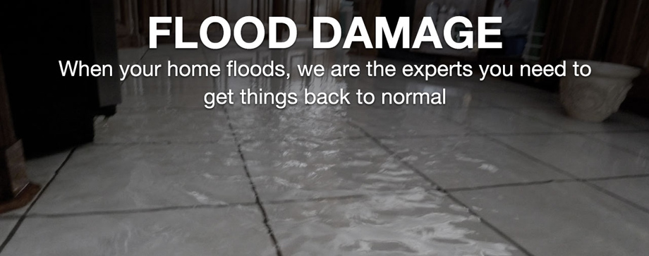 Flood damage, water damage, water damage repair