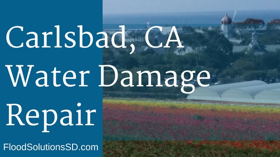 Carlsbad CA Water Damage Flood Repair