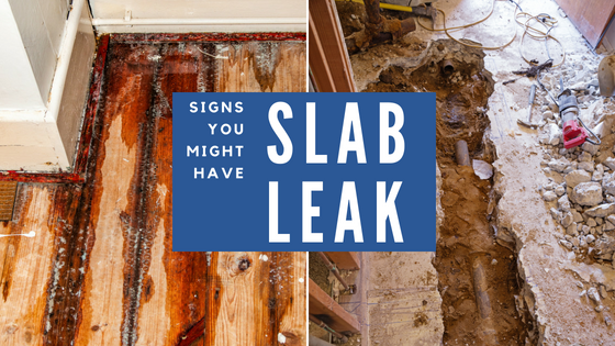 signs you might have a slab leak. water damaged floor